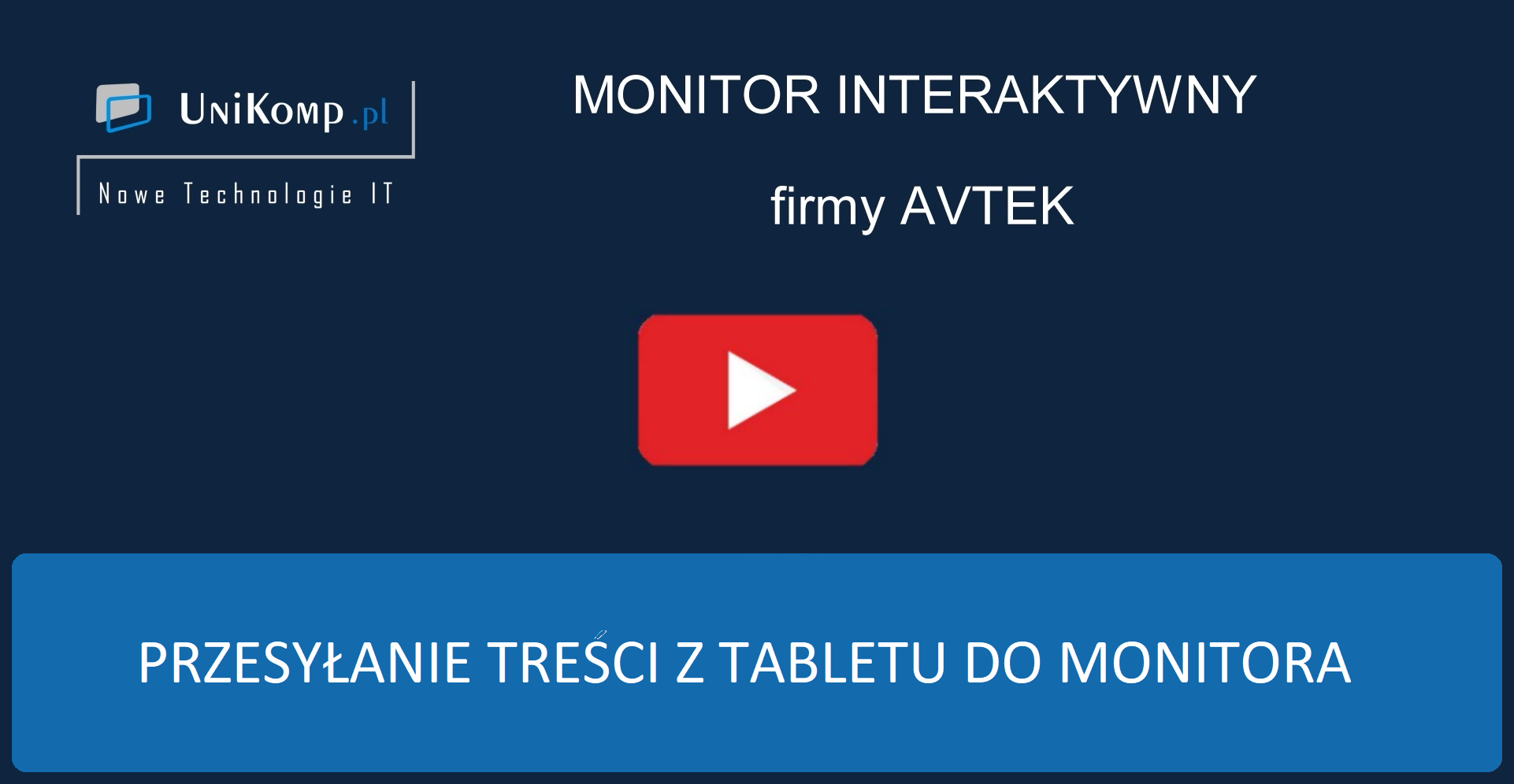 Przesyłanie treści z tabletu do monitora